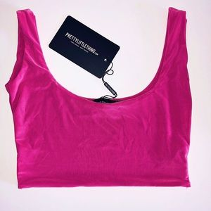 NWT NEVER WORN PrettyLittleThing Pink Crop Top